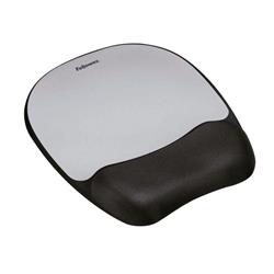 Fellowes Memory Foam Mouse Pad Black/Silver 9175801 - Free Wireless Charger Offer