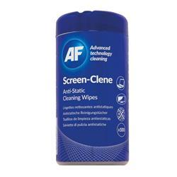 AF Screen-Clene Anti-Static Screen Wipes Tub (Pack of 100) ASCR100T