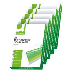Q-Connect A4 White 80gsm Copier Paper (Pack of 2500)  Ref KF01087