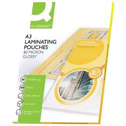 Q-Connect A3 Laminating Pouch 160 Micron (Pack of 100) KF04122