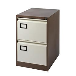 Jemini Coffee/Cream 2 Drawer Filing Cabinet - KF03006