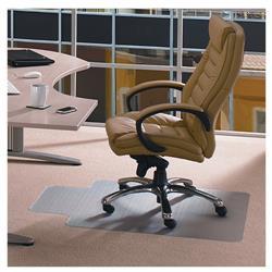 Cleartex PVC Chair Mat Carpet Lipped 1150x1340mm Clear Ref 11341525LV