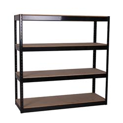 Storage Solutions Black Boltless 4-Shelf Unit Ref STS56037