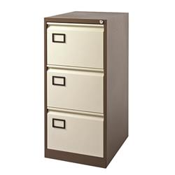 Jemini 3 Drawer Filing Cabinet Coffee/Cream KF03004
