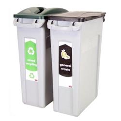 Rubbermaid Slim Jim 2 Stream Recycling Starter Pack Ref 1876489