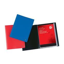 5 Star Office Display Book Soft Cover Lightweight Polypropylene 10 Pockets A4 Blue