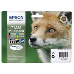 Cartuccia originale Epson T1285 - n+c+m+g - C13T12854010 - conf. 4