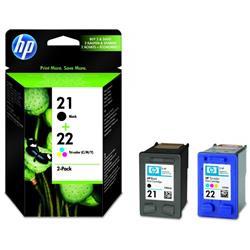 Cartuccia HP 21/22 - originale HP - nero+tricromia - SD367AE - conf. 2