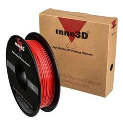 Inno3D PLA Filament for 3D Printer 1.75x200mm Red Ref 3DPFP175RD05
