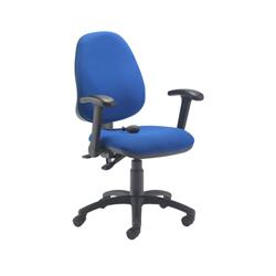 Calypso Ergo Chair With Folding Arms - Royal Blue Ref CH2810RB+AC1082