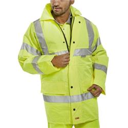 BSeen 4 In 1 High Visibility Jacket & Bodywarmer XL Saturn Yellow Ref TJFSSYL