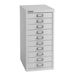 Bisley 10 Drawer Home 29 Series Steel Multidrawer - Goose Grey Ref H29/10NLG/G