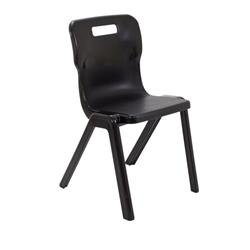 Titan One Piece Chair Size 6 - 460mm Seat Height - Black Ref T6-BK