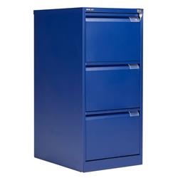 Bisley 3 Drawer Classic Steel Filing Cabinet - Blue Ref BS3E/BLUE