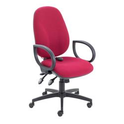 Maxi Ergo Chair With Fixed Arms - Claret Ref CH0808CL+AC1002