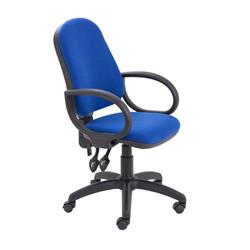 Calypso II High Back Chair with Fixed Arms - Royal Blue Ref CH2800RB+AC1002