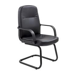 Canasta Visitor PU Chair - Black Ref CH0766
