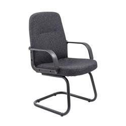 Canasta Visitor Fabric Chair - Charcoal Ref CH0767CH