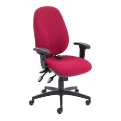 Maxi Ergo Chair With T Adjustable Arms - Claret Ref CH0808CL+AC1040