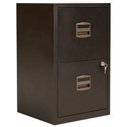Bisley 2 Drawer A4 Home Filing Cabinet - Black Ref PFA2/BLK