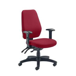 Call Centre Chair Without Seat Slide - Claret Ref CH0905CL