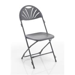 Titan Linking Fan Back Folding Chair - Charcoal Ref TCFAFC2LK-C