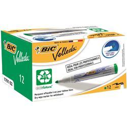 Bic Velleda 1701 Whiteboard Marker Bullet Tip Line Width 1.5mm Green Ref 904940 [Pack 12]