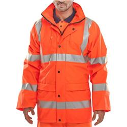 BSeen High Visibility Super B-Dri Breathable Jacket Large Orange Ref PUJ471ORL