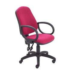 Calypso II High Back Chair with Fixed Arms - Claret Ref CH2800CL+AC1002