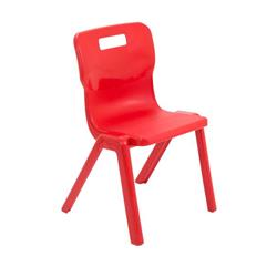 Titan One Piece Chair Size 4 - 380mm Seat Height - Red Ref T4-R