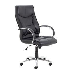 Whist Chair - Black Leather Ref CH0206
