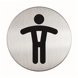 Pittogrammi Picto Durable - rotondo - wc uomini