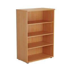 Book Case 1200mm With 3 Shelves - Beech Ref TES1245BE