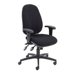 Maxi Ergo Chair With T Adjustable Arms - Black Ref CH0808BK+AC1040