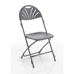 Titan Linking Fan Back Folding Chair - Charcoal Ref TCFAFC2LK-C