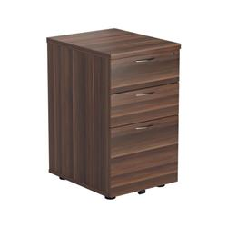3 Drawer Under Desk Pedestal - Dark Walnut Ref TESUDP3DW