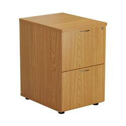 2 Drawer Filing Cabinet - Oak - TES2FCOK