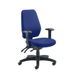 Call Centre Chair Without Seat Slide - Royal Blue Ref CH0905RB