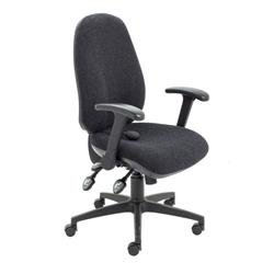 Maxi Ergo Chair With Folding Arms - Charcoal Ref CH0808CH+AC1082