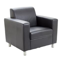 Iceberg Armchair Leather - Black Ref OF0300BK