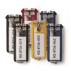 Portachiavi Key clip Durable - assortiti - conf. 6