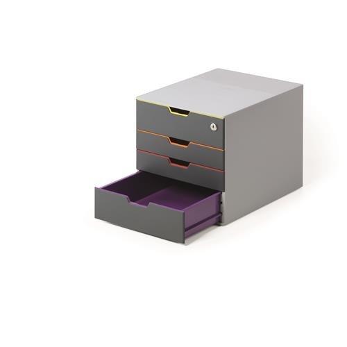 Cassettiera Ufficio Con Serratura.Cassettiera Da Scrivania Durable Varicolor Safe Con Serratura 0