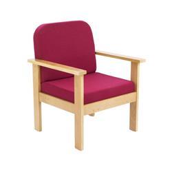 Juplo Wooden Arm Chair - Claret Ref OF0310CL
