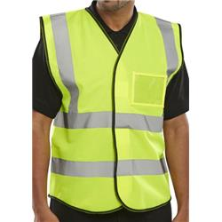 BSeen High Visibility ID Vest En20471 Small Saturn Yellow Ref BD108SYS [Pack 10]