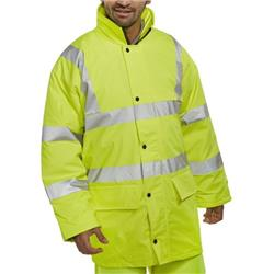 BSeen High Visibility Breathable Lined Jacket Large Saturn Yellow Ref PULJ471SYL