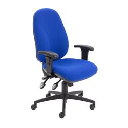 Maxi Ergo Chair With T Adjustable Arms - Royal Blue Ref CH0808RB+AC1040