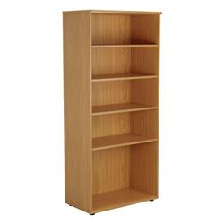 Book Case 1800mm With 4 Shelves  - Oak Ref TES1845OK