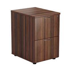Mezzo 2 Drawer Filing Cabinet - Dark Walnut - TES2FCDW