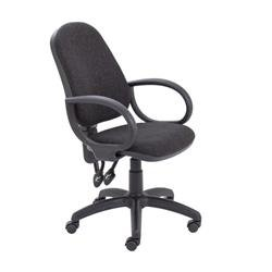 Calypso II High Back Chair with Fixed Arms - Charcoal Ref CH2800CH+AC1002
