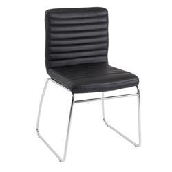 Lazio Visitor Chair - Black Leather Look Ref CH0234